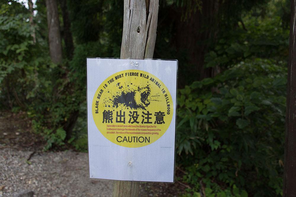 Bear warning